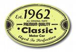 Distressed Aged Established 1962 Aged To Perfection Oval Design For Classic Car External Vinyl Car Sticker 120x80mm